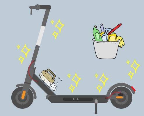 čiščenje električnih skirojev
