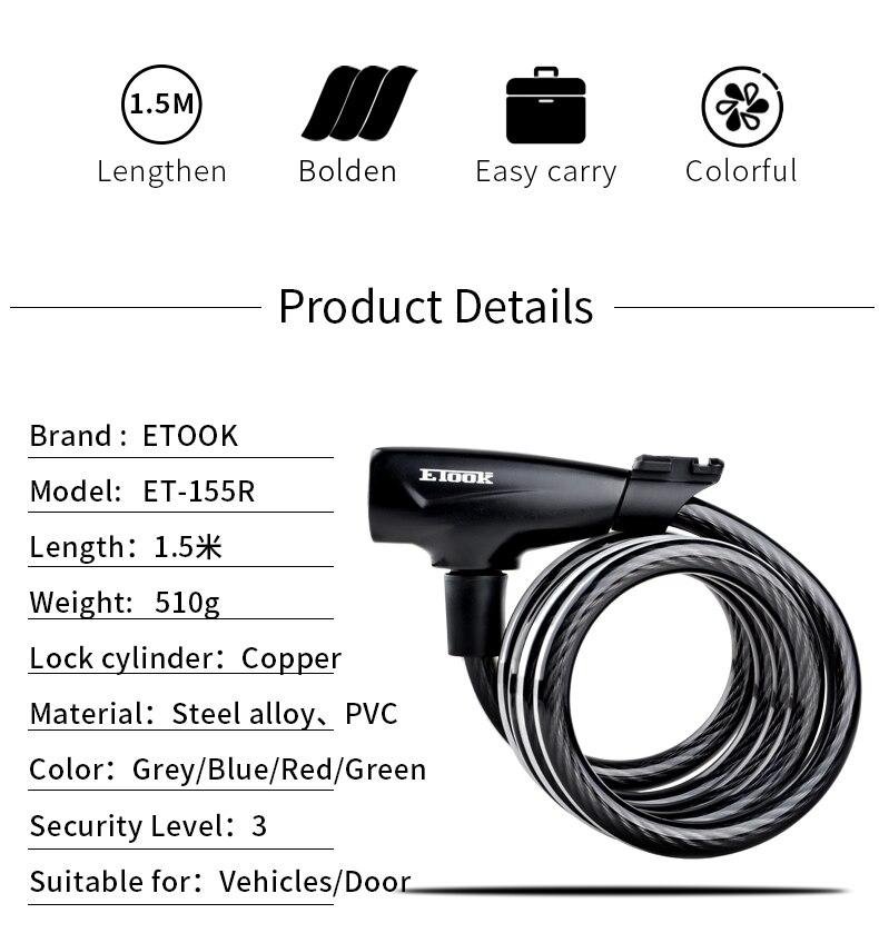 etook ključavnica za električni skiro